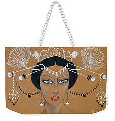 Eastern Elegance -- Whimsical Asian Woman Weekender Tote Bag