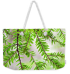 Weekender Tote Bag featuring the photograph Eastern Hemlock Tree Abstract by Christina Rollo