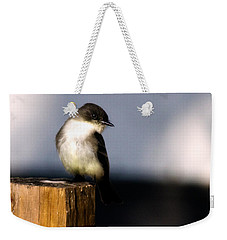 Eastern Phoebe Weekender Tote Bag by Lana Trussell