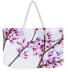 Weekender Tote Bag featuring the photograph Eastern Redbud by Elena Nosyreva