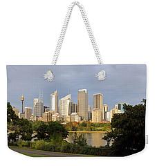 Eastern Sydney Skyline Weekender Tote Bag by Nicholas Blackwell