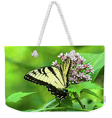 Eastern Tigerswallowtail On Milkweed Weekender Tote Bag