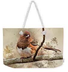 Bird Art - Eastern Towhee - Female Weekender Tote Bag