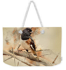 Bird Art - Eastern Towhee - Male Weekender Tote Bag
