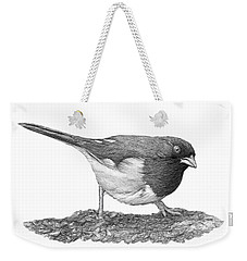 Eastern Towhee B And W Weekender Tote Bag