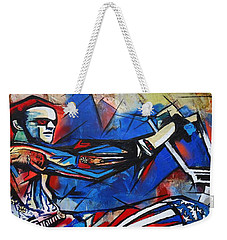 Weekender Tote Bag featuring the painting Easy Rider Captain America by Eric Dee