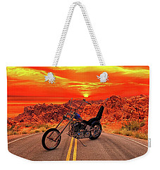 Weekender Tote Bag featuring the photograph Easy Rider Chopper by Louis Ferreira