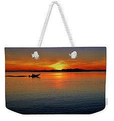 Easy Sunday Sunset Weekender Tote Bag