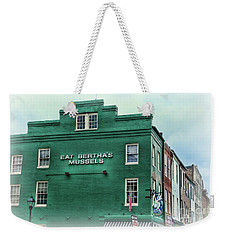 Weekender Tote Bag featuring the photograph Eat Berthas Mussels  by Paul Ward
