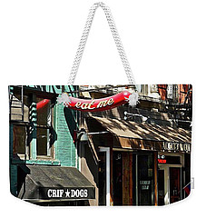 Weekender Tote Bag featuring the photograph Eat Me New York by Joan Reese