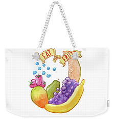 Eat More Fruit Weekender Tote Bag