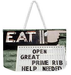 Eat Sign Weekender Tote Bag