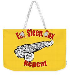 Eat Sleep Sax Repeat Weekender Tote Bag