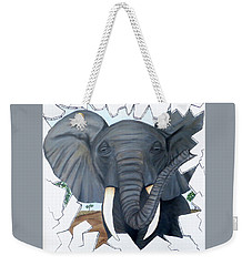 Eavesdropping Elephant Weekender Tote Bag