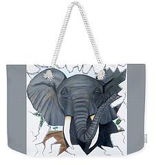Eavesdropping Elephant Weekender Tote Bag