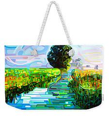 Ebb And Flow Weekender Tote Bag by Mandy Budan