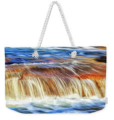 Weekender Tote Bag featuring the photograph Ebb And Flow, Noble Falls by Dave Catley