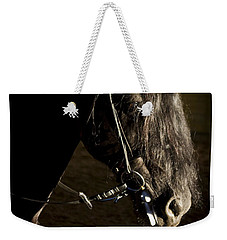 Weekender Tote Bag featuring the photograph Ebony Beauty D6951 by Wes and Dotty Weber