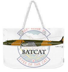 Ec-121r Batcat Weekender Tote Bag