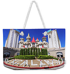 Ecalibur Casino West Entrance Weekender Tote Bag by Aloha Art