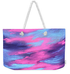Weekender Tote Bag featuring the painting Eccentric Sky by Anastasiya Malakhova
