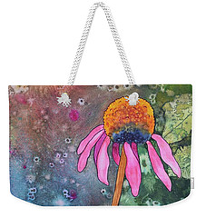 Echinacea Weekender Tote Bag by Nancy Jolley