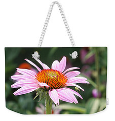 Echinacea With Visitor Weekender Tote Bag by Ellen Tully