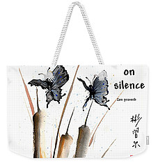 Echo Of Silence With Zen Proverb Weekender Tote Bag by Bill Searle