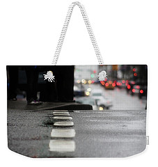 Weekender Tote Bag featuring the photograph Echoes In The Rain Drops  by Empty Wall