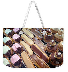 Weekender Tote Bag featuring the photograph Eclaires by Therese Alcorn