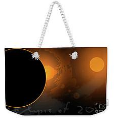 Eclipse Of 2017 W Weekender Tote Bag