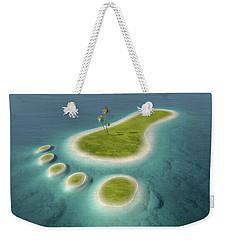 Eco Footprint Shaped Island Weekender Tote Bag