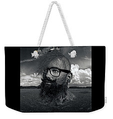 Eco Hipster Black And White Weekender Tote Bag
