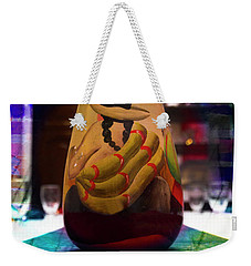 Weekender Tote Bag featuring the photograph Ecuadorian Vase Art by Al Bourassa
