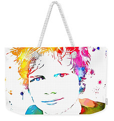 Ed Sheeran Paint Splatter Weekender Tote Bag by Dan Sproul