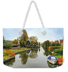 Edam Waterway In Autumn Weekender Tote Bag