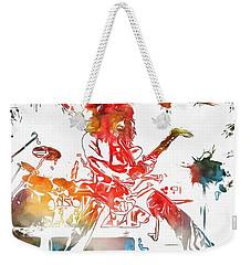 Eddie Van Halen Paint Splatter Weekender Tote Bag by Dan Sproul