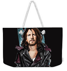 Eddie Vedder Weekender Tote Bag by Melanie D