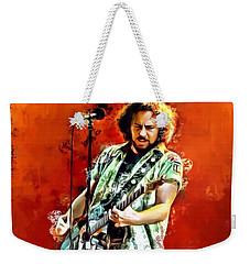 Eddie Vedder Of Pearl Jam Weekender Tote Bag