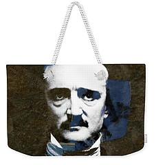 Weekender Tote Bag featuring the mixed media Edgar Allan Poe  by Paul Lovering
