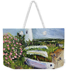 Edgartown Light And Her Entourage Weekender Tote Bag