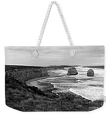 Edge Of A Continent Bw Weekender Tote Bag