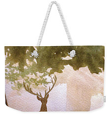 Weekender Tote Bag featuring the painting Edge Of The Forrest by Marilyn Jacobson