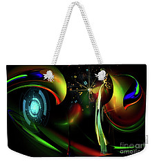 Weekender Tote Bag featuring the digital art Edge Of Time by Shadowlea Is