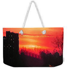 Edge Of Town Weekender Tote Bag