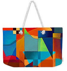 Weekender Tote Bag featuring the digital art Edges by Elena Nosyreva