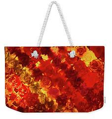 Edgy Flowers Through Glass Weekender Tote Bag
