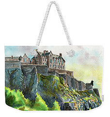 Edinburgh Castle From Princes Street Weekender Tote Bag