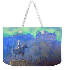 Edinburgh Castle Horse Statue Weekender Tote Bag