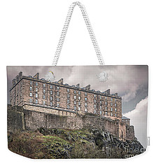 Edinburgh Castle In The Rain Weekender Tote Bag